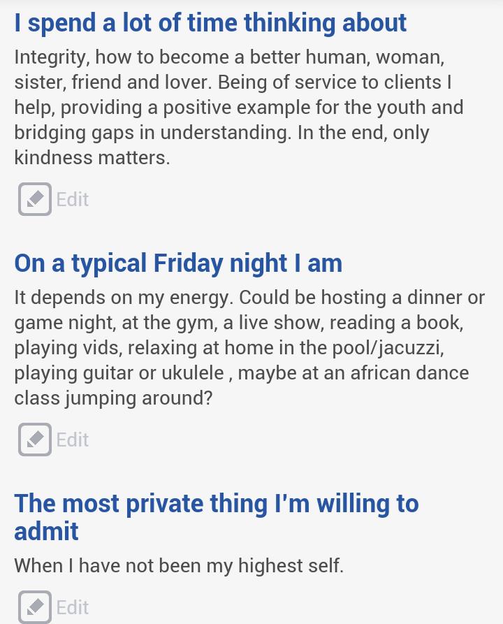 Internet dating profile examples ukulele