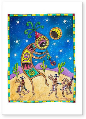 Desert Celebration Greeting Card