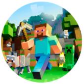 Oblea para tartas Minecraft