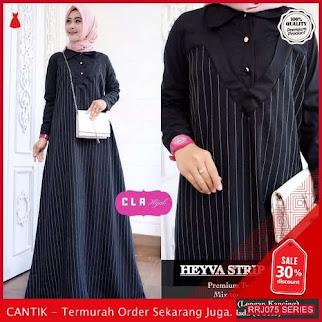 Jual RRJ075D214 Dress Heyva Strip Wanita Maxy Mo Terbaru BMGShop