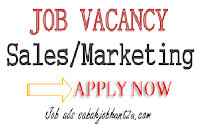 IMMEDIATE VACANCY for SALES ASSISTANT
