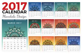2017カレンダー無料テンプレート120