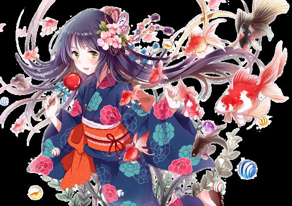render kimono girl