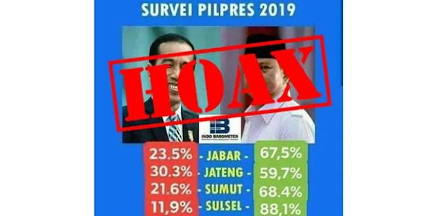 Meme Survei Prabowo Menang Telak, Indo Barometer: Hoax!