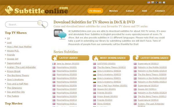 Top 5 Subtitle Download Sites to Download Subtitles you need