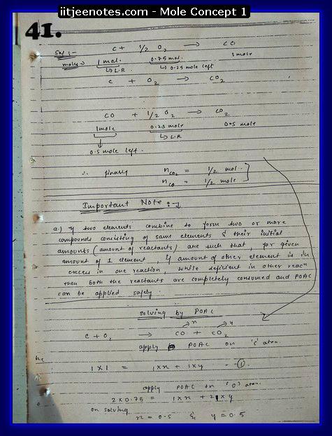 Mole Concept Notes IITJEE9