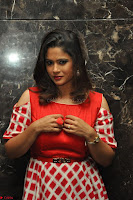 Shilpa Chakravarthy looks super cute in Red Frock style Dress 013.JPG