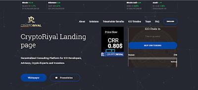 مشروع CryptoRiyal منصة المستقبل للتمويل الشركات الناشئة