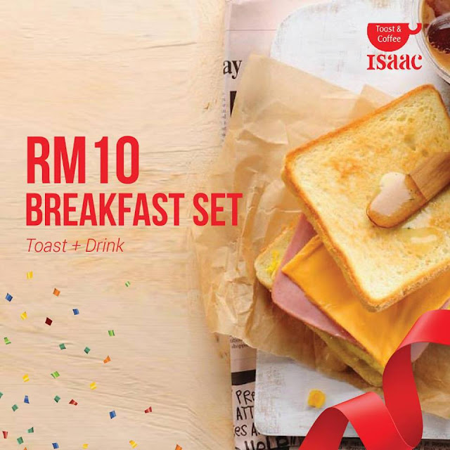 Isaac Toast Malaysia Menu - Special Breakfast Set Promotion