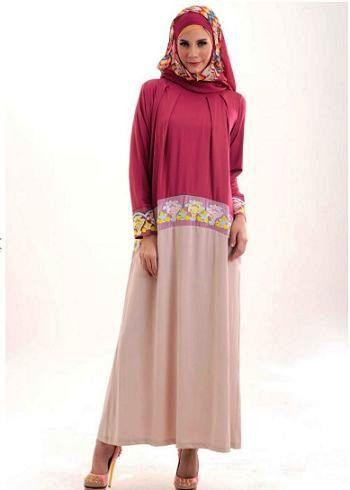 21 busana gamis modern bergaya anak muda terbaru jilbab Baju gamis anak muda