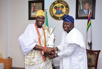 Ooni of Ife, Governor Akinwunmi Ambode