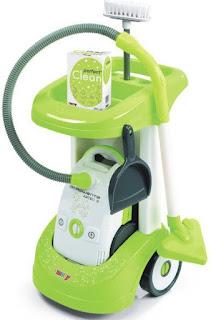 zabawkowy wózek do sprzątania