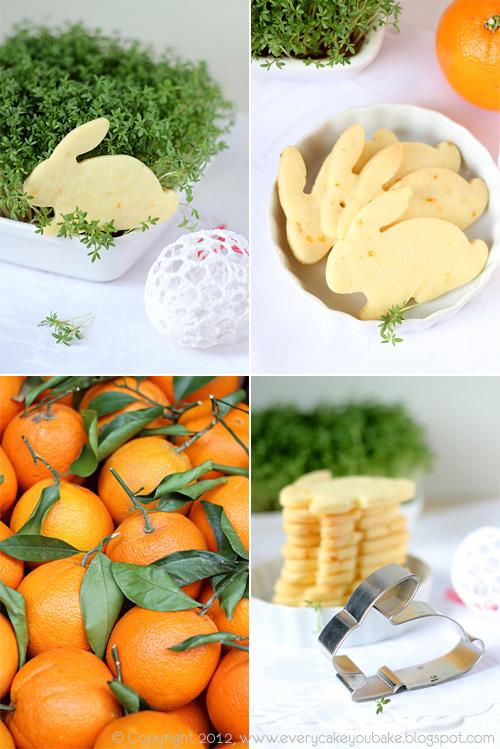 kruche ciasteczka maślano-pomarańczowe zajączki
