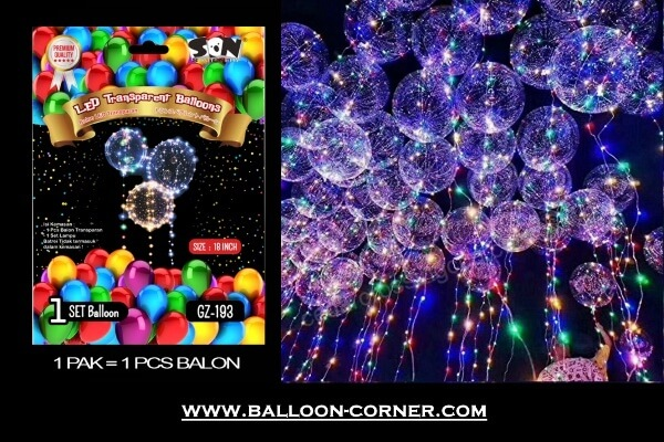 Balon PVC Transparan + LED String Lights