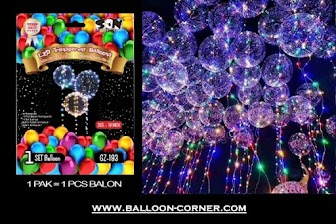 Balon PVC Transparan + LED String Lights (Paket)