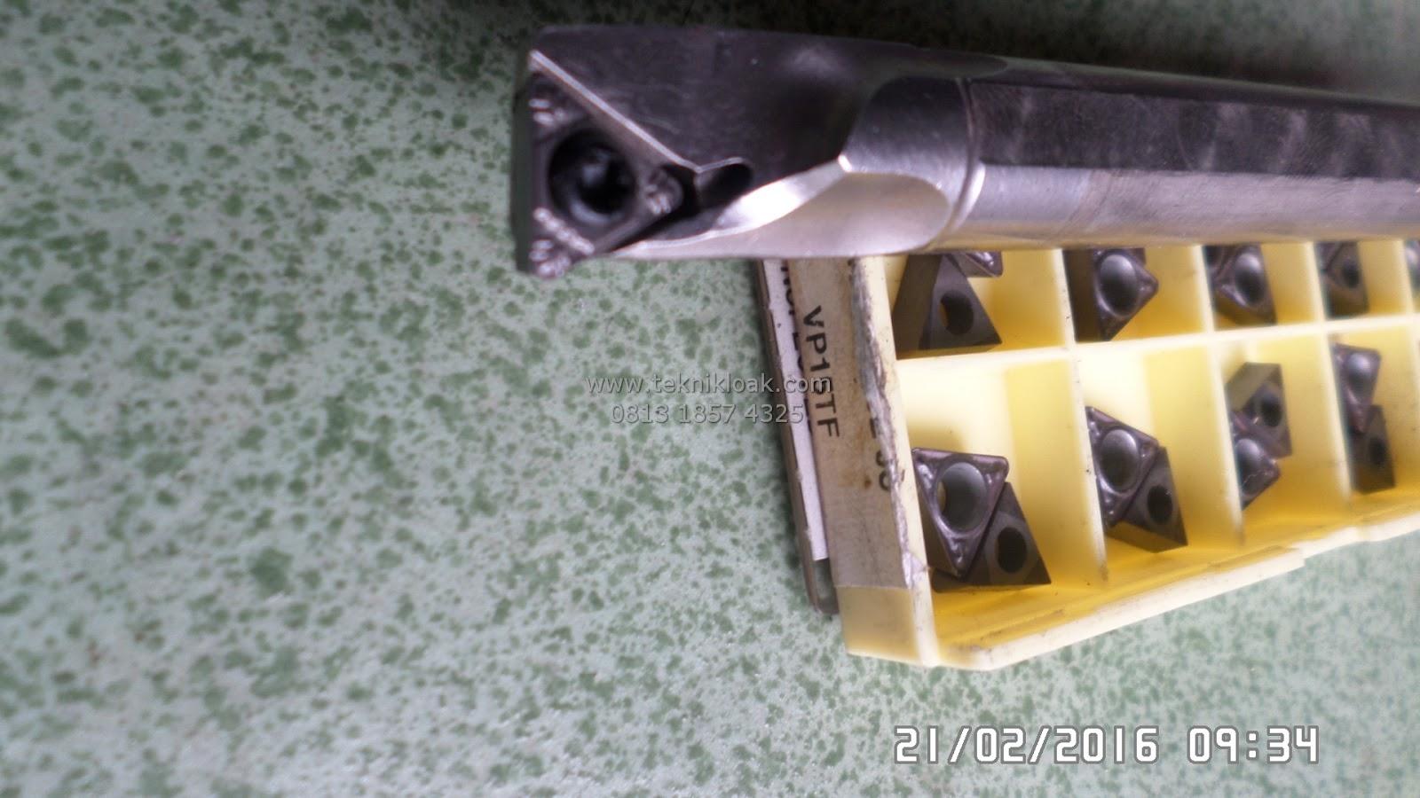 TPGH 11 | Bubut Diameter Dalam | Paket Insert dan Holder | Mata bubut | Stang Bubut