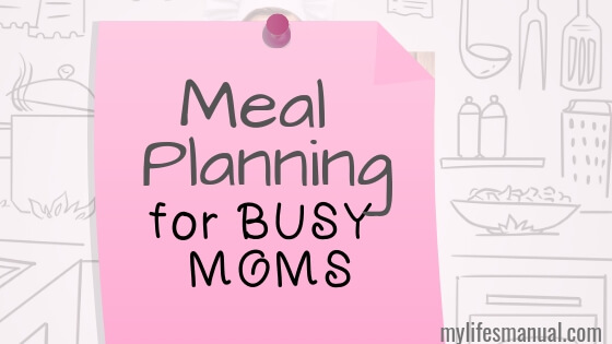 Meal Planning printables for moms