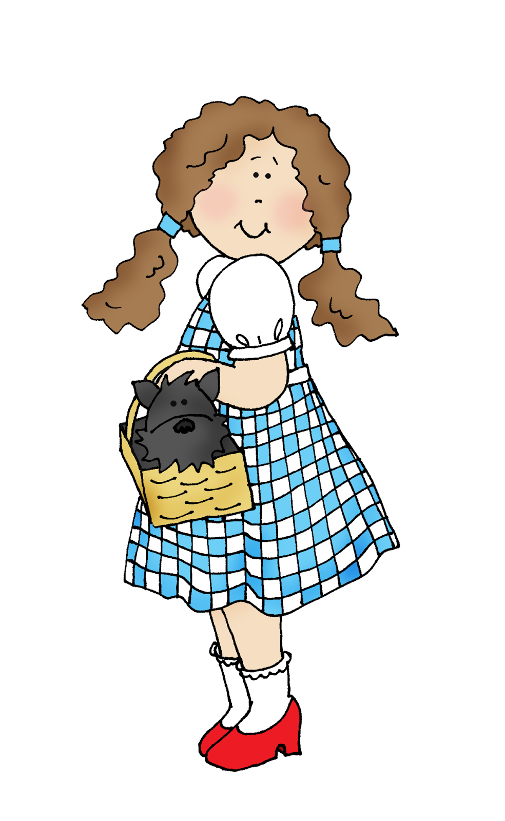Free Dearie Dolls Digi Stamps: Dorothy and Toto