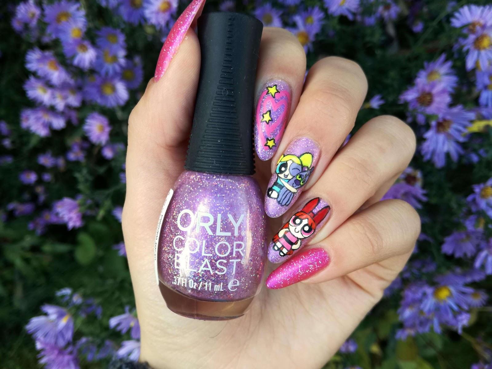 fioletowo-różowe paznokcie orly