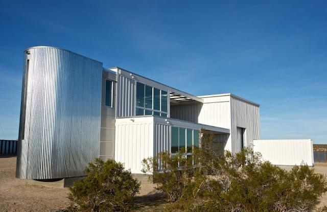 Modular Shipping Container Home in Mojave Desert, California 1