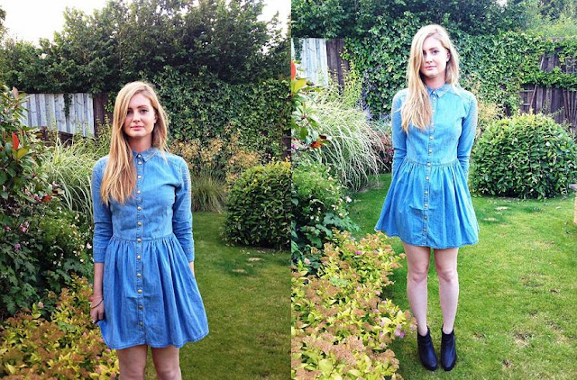 denim dress Topshop