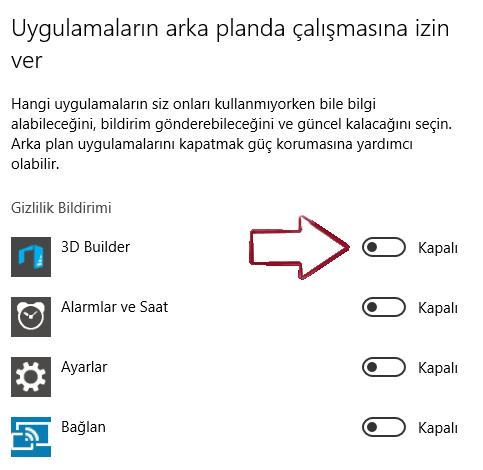 Windows 10'da Arka Plan Uygulamaları Kapatma Nasıl Yapılır?