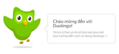 Học tiếng anh miễn phí với Duolingo