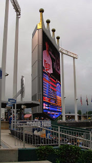 Kauffman Stadium Scoreboard from LF - Kansas City