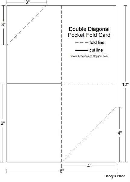 Beccy 39 s place tutorial diagonal double pocket card for Double sided place card template