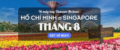 Giá vé máy bay đi Singapore tháng 8 hãng Vietnam Airlines