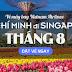 Săn vé máy bay đi Singapore giá rẻ tháng 8 hãng Vietnam Airlines