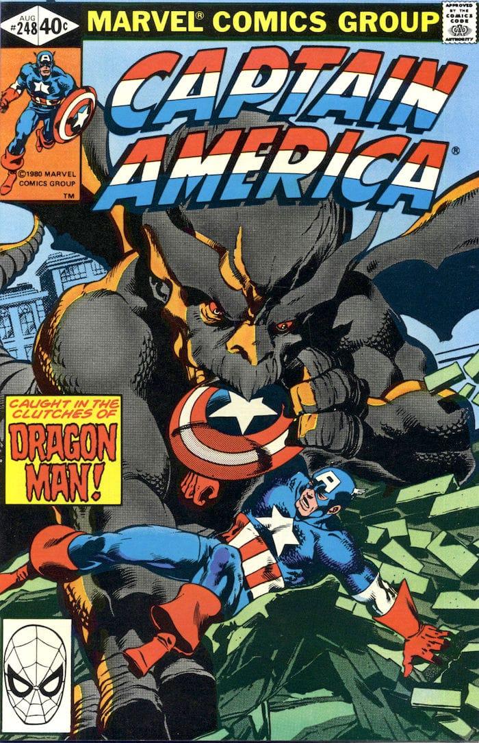Captain America #248 marvel 1980s bronze age comic book cover art by John Byrne