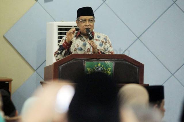 Terus Promosikan Islam Ramah Ketua Umum PBNU Said Aqil Siradj menghadiri Rakernas LDNU di pondok Pesantren Luhur Al-Tsaqafah, Ciganjur, Jakarta, Senin (20/2/2017).