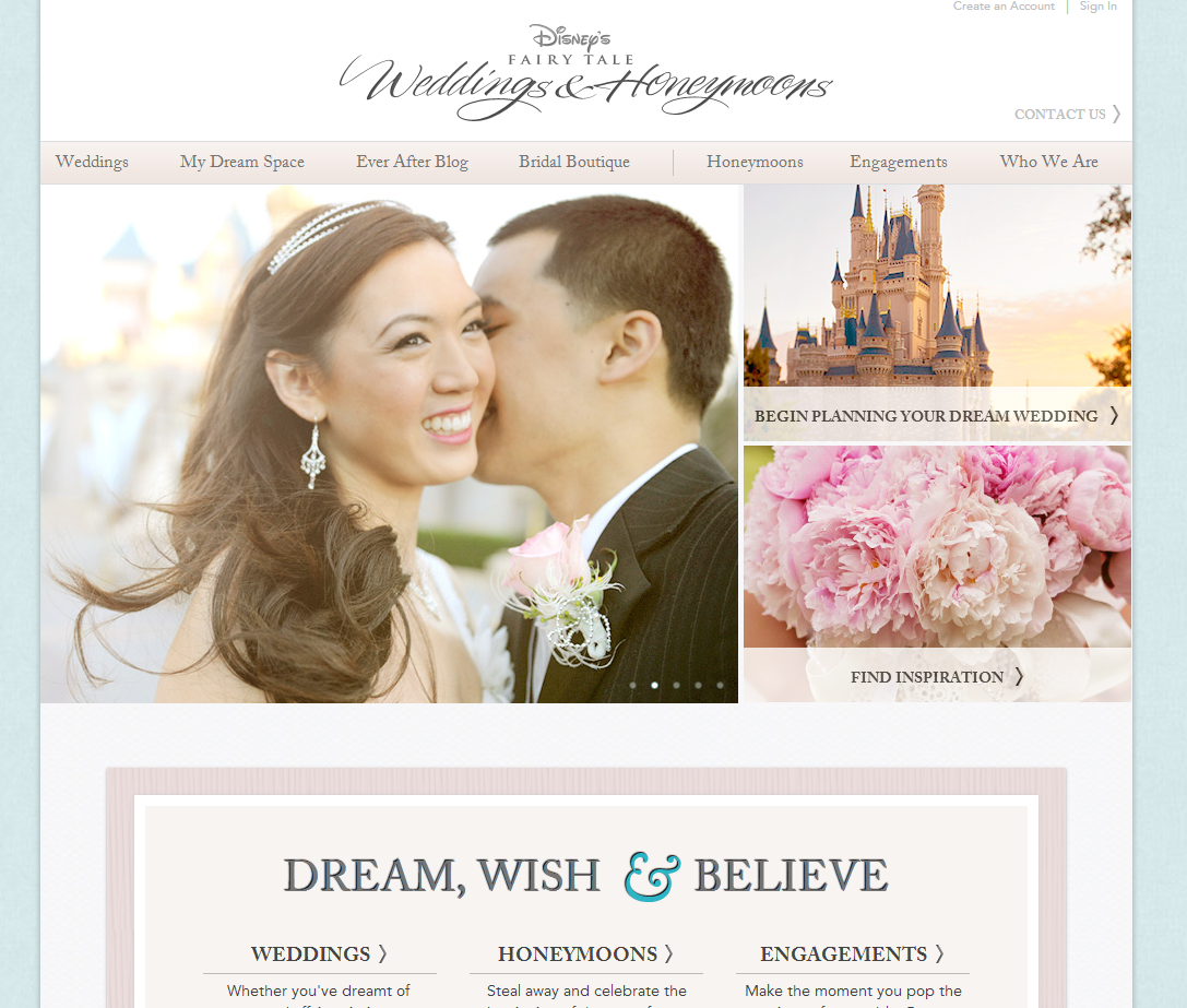 wedding ideas and inspirations disney s tale wedding s website undergoes 27958