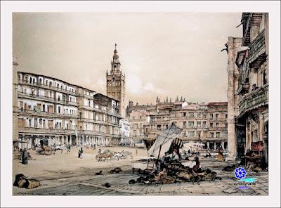 Plaza de San Francisco - SEVILLA (1836) - John Frederick Lewis