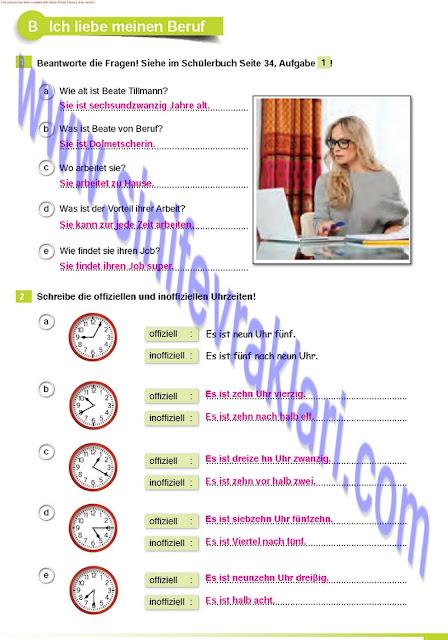 Almanca A1.2 Çıpa Yayınları Çalışma Kitabı Cevapları Sayfa 33