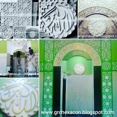 ornamen GRC masjid produk GRC HEXACON