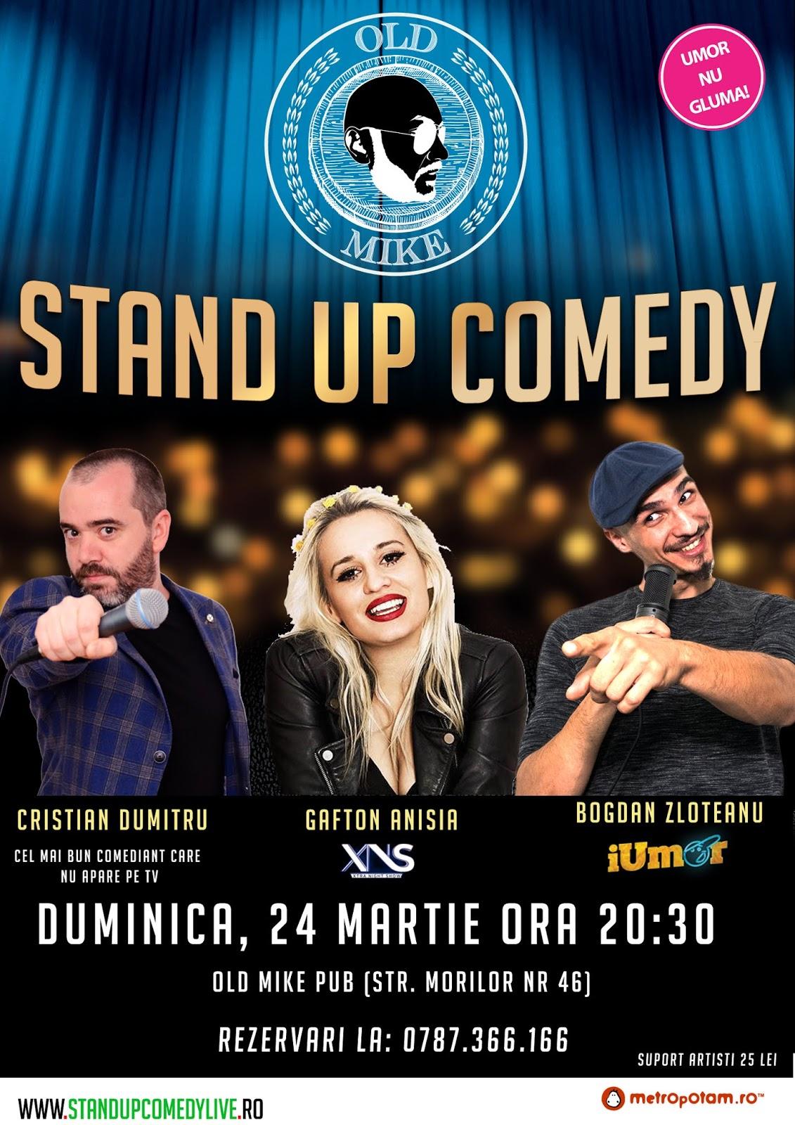 Stand-Up Comedy Duminica 24 Martie Bucuresti 2019