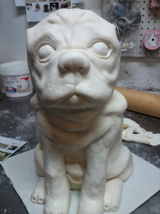 My Pug Cake in the making