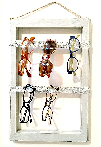 DIY  Easy Repurposed Eyeglass Storage. Homeroad.net