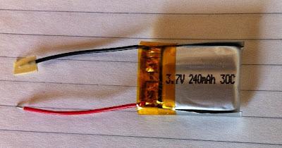 bateria lipo de 3,7 V y 240 mAh