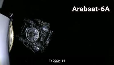 أول صورة بعد تثبيت القمر الصناعي السعودي Arabsat-6A في مداره