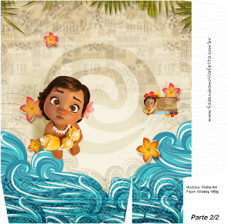Moana Baby Free Printable Box. Part 2