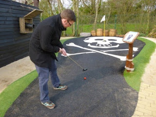 Playing at Pirate's Landing Adventure Golf at Trent Lock Golf Centre in Long Eaton in 2014