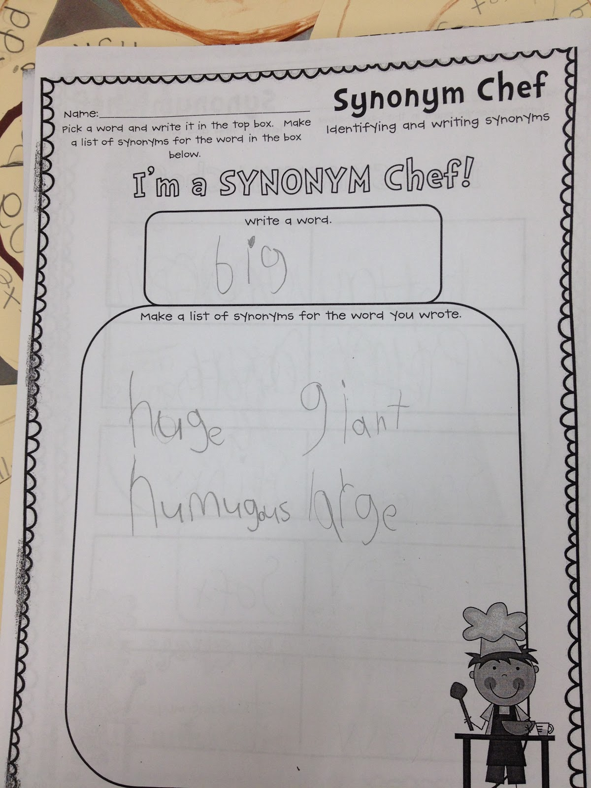 Life In Grade One Synonym Chefs