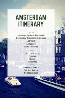 Amsterdam trip three day itinerary