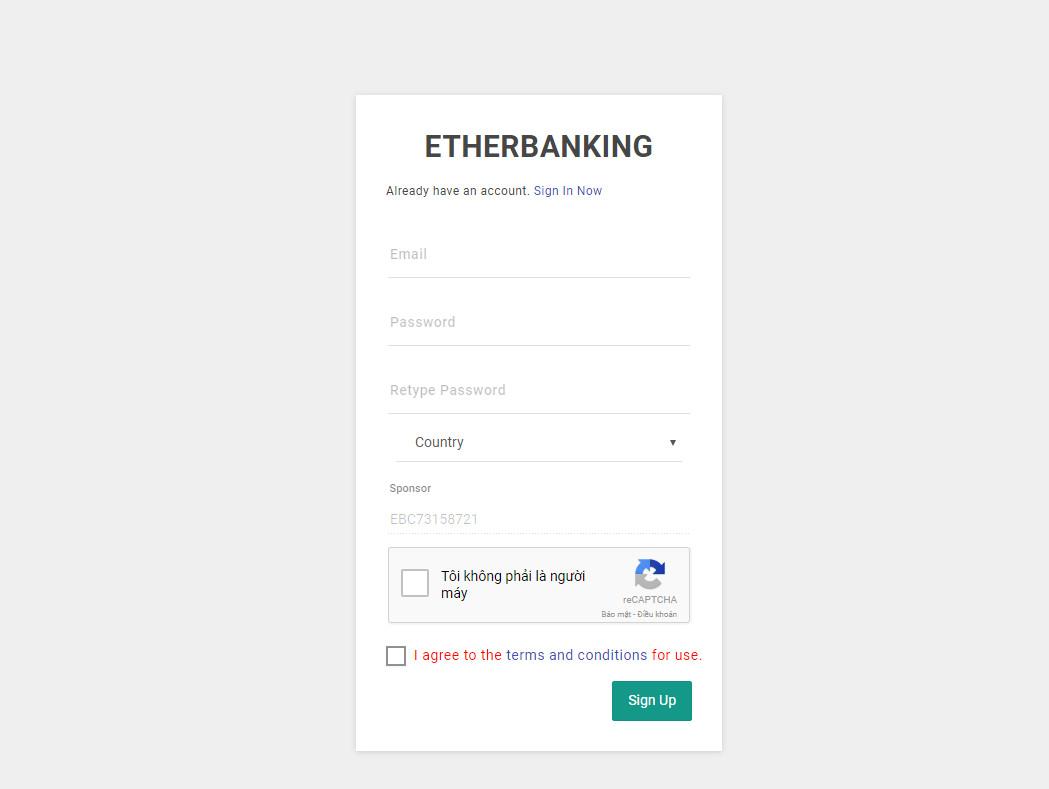 Đăng ký Etherbanking (EBC)