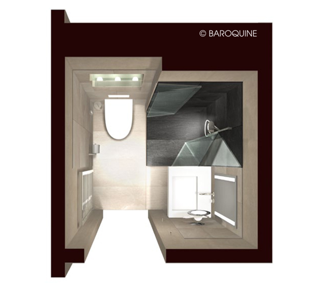 badezimmer 2 quadratmeter. Black Bedroom Furniture Sets. Home Design Ideas
