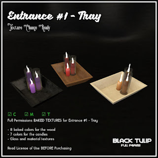 [Black Tulip] Textures - Entrance Kit #1 - Tray with Candles