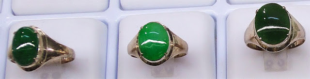 jade jewelry and white gold with cabochon